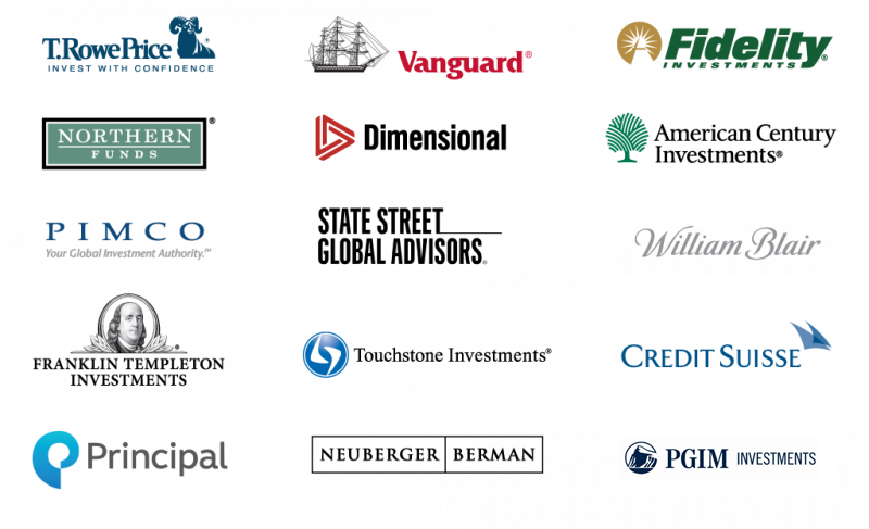 Investment options - logos